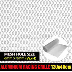 Car Racing Honeycomb Mesh Tuning Grill Net Spoiler Bumper Vent Aluminium Silver