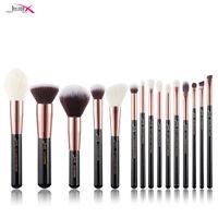 Jessup Makeup Brushes 15 Pcs Professional Face Fundation Blending Shadow Brush