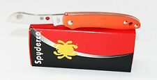 Spyderco Roadie Double Dent Non Locking Pocket Knife Orange FRN Handle C189POR