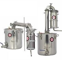 20L Haus DIY Alkohol Destille Destillieranlage Kühler Schnäpsen Ätherischer Öle