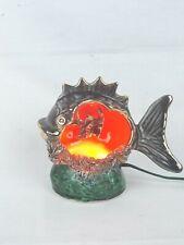 Petite lampe veilleuse poisson Vallauris années 50