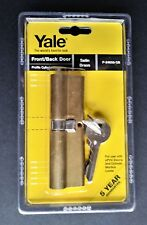 Yale Front / Back Door Profile Cylinder / Lock  P-24050-SB in Satin Brass