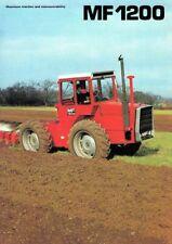 Vintage Massey Ferguson Tractor 1200 SALES BROCHURE/POSTER ADVERT A3