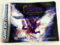 Notice Game Boy Advance VF Spyro A New Beginning AGB-B3YP-EUR Envoi rapide suivi