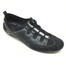 Women's Ecco Loafers Shoe Sz 41 EU/10-10.5 Black Athletic Fitness Mimosa Cord W1