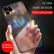 Para iPhone 11 Pro Max SE 2 XS Xr X 8 7 6S Ultra Delgada Mate transparente Funda cubierta rígida