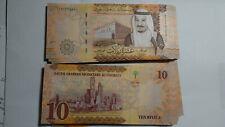 SAUDI ARABIA UNCIRCULATED BANKNOTE PAIR, 1 & 10 RIYALS 2012 & 2017