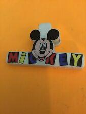 Vintage Disney Mickey Mouse Food Storage Chip Bag Clip Plastic Large Souvenir