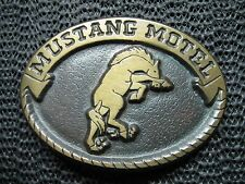 MUSTANG MOTEL BELT BUCKLE! VINTAGE! VERY RARE! BRASS! USA! COWBOY! COWGIRL! LOOK