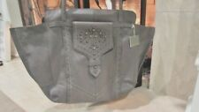 Isabella Fiore Grey Leather Studded Emelia Tote Retail $395.00
