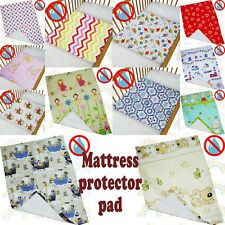 WATERPROOF COT mattress protector BED PAD washable DOUBLE-SIDED crib JUNIOR BED