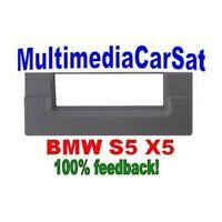 3/238 MASCHERINA AUTORADIO 1 DIN ISO BMW S5 X5 NERA CORNICE ISO