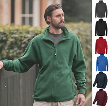 Trespass Mens Fleece Full Zip Jacket - Anti Pill - Draw cord Hem - 2 Zip Pockets