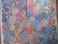 -Superbe châle carré en mousseline  100% soie TBEG  vintage scarf