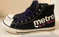 Metro PCS T-Mobile  Sponsor Advertise Men's High Top Sneakers Shoes SZ 12 Chucks
