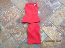 Vintage Barbie Clothing, Red Evening Dress Set
