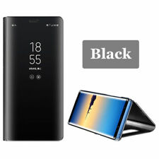 For Samsung Note8 S8 + S7 Edge Shockproof View Mirror Case Flip PU Leather Cover