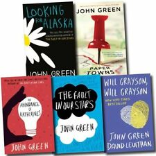 John Green Collection 5 Books Set The Fault in Our Stars, Looking for Alaska AU