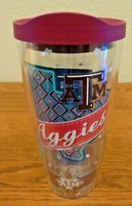 Tervis Texas A & M ATM Aggies 24 oz Insulated Tumbler College Maroon Lid New