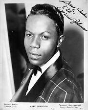 "Marv Johnson 10"" x 8"" Photograph no 1"