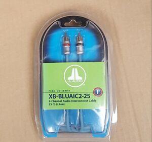 JL Audio XB-BLUAIC2-25 Premium ECS 2-ch 25-ft RCA Audio Interconnect Cable * NEW