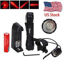 501B 5000Lm Q5 RED LED Tactical Hunting Flashlight 1 Mode Torch Mount Light Gun
