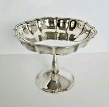 International Silver Co Chippendale Medium Silverplated Compote Nut Candy Dish