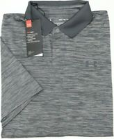 NWT $55 Under Armour Heat Gear Short Sleeve Gray Shirt Mens Performance Polo NEW