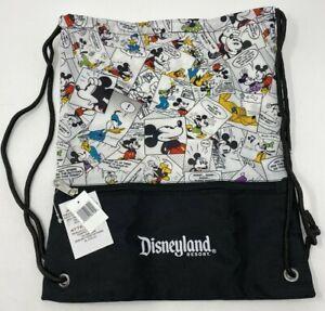 Disney Disneyland Cinch Sack Cartoon Colored Original Characters Drawstring Bag