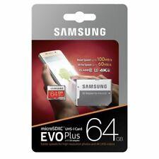 Samsung plus 64GB micro SD SDXC Class 10 memory card with Adp 100% Genuine 4K U3