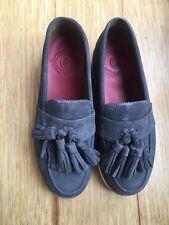 f18d3e1f1dd Womens Grenson Clara Charcoal Suede Leather Tassel Loafers Size UK 5   EU38
