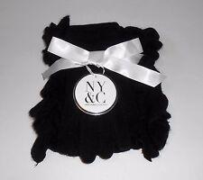 New York & Co Boa Knit Scarf & Glove Set Black O/S NWT