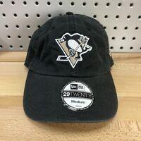 Pittsburgh Penguins NHL New Era 29TWENTY Size MEDIUM Flex Fit Hat BLACK NOS Cap