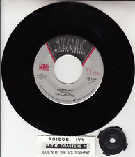"""THE COASTERS  Poison Ivy & Idol With The Golden Head 7"""" 45 rpm vinyl record NEW"""