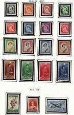 NEW ZEALAND - SCOTT #s 280-304 MNH /MLH. KEY SET 288-301VLH         1953-5