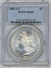 1882-CC PCGS MS-65 Morgan Silver $ ~ SMOOTH CHEEK ~ BLASTY WHITE ~ A REAL BEAUTY
