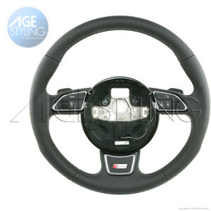 OEM Audi A4 A5 Q5 Q7 S-Line Steering Wheel with Gear Paddle Shifters