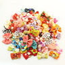Cute Lot Small Pet Dog Hair Bows Cat Puppy Grooming Accessories w/Rubber bands