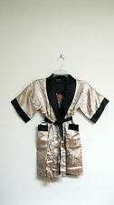 Thai Silk-Blend Child's Robe / Kimono - Gold Reversible - Unisex Large (New)