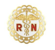 RN Lapel Pin Registered Nurse Scalloped Medical Graduation Recognition Pins New