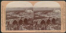 Photo Stéréo 1900 - Palestine - Village de Nains
