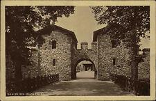 Kastell Saalburg Hessen Taunus AK ~1920/30 gelaufen Partie an der Porta Dextra