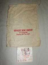 VINTAGE 1970S  NORTHEAST NEWS COMPANY KINGSTON NY CLOTH MAIL BAG