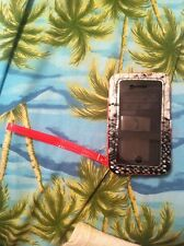 iPhone 4/4s Wallet Phone Case- (NEON) Pink. Snake Skin.