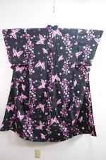 05v7128 Cotton Wide Japanese kimono YUKATA Butterfly