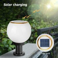 Waterproof Solar LED Bollard Light Outdoor Garden Yard Lawn Pillar Security Lamp