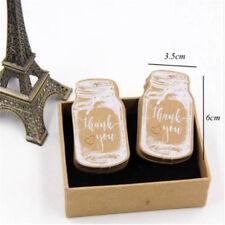 50pcs Bottle Shape Tags Wedding Party Paper Blessing Hang Label 6A