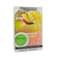 3 x VOESH Pedicure Set 4-in-1 Mango Salt Scrub Masque Massage Lotion