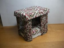 DOLLHOUSE MINIATURE HALF INCH SCALE HAND CRAFTED CANOPY BED