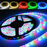 RGB LED Strip Lights 5050 5630 Chip 12V Power Supply Beautiful Night Decor 2873